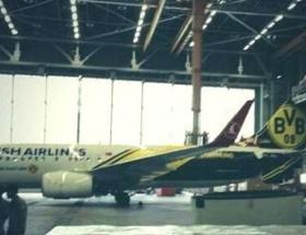 THY Uçağı Borussia Dortmund renklerine boyandı