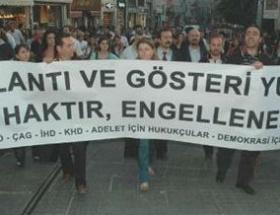 İstiklalde avukat protestosu